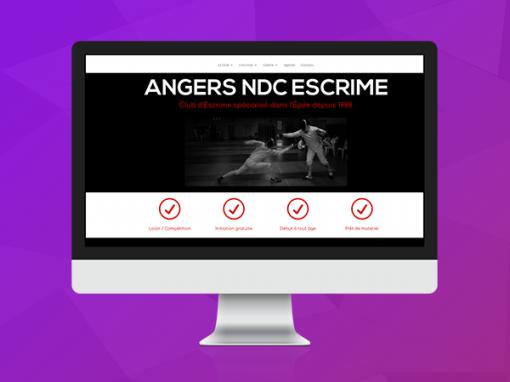 Site du club Angers NDC Escrime