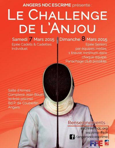 Affiche Challenge de l'Anjou 2015