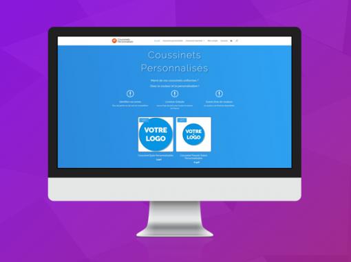 Boutique en ligne : Coussinets Personnalisés